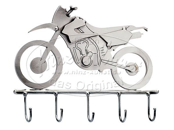 Schlüsselhalter aus Metall - Enduro . Motocross Geschenk Egal ob Motorradschlüssel, Haustürschlüssel oder Garagenschlüssel - an diesem Schlüsselhalter haben alle
