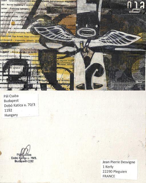 Mail art from Pál Csaba: Csaba Pál, mail art, France