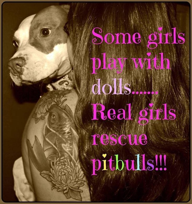Some girls play with dolls... real girls play rescue pitbulls