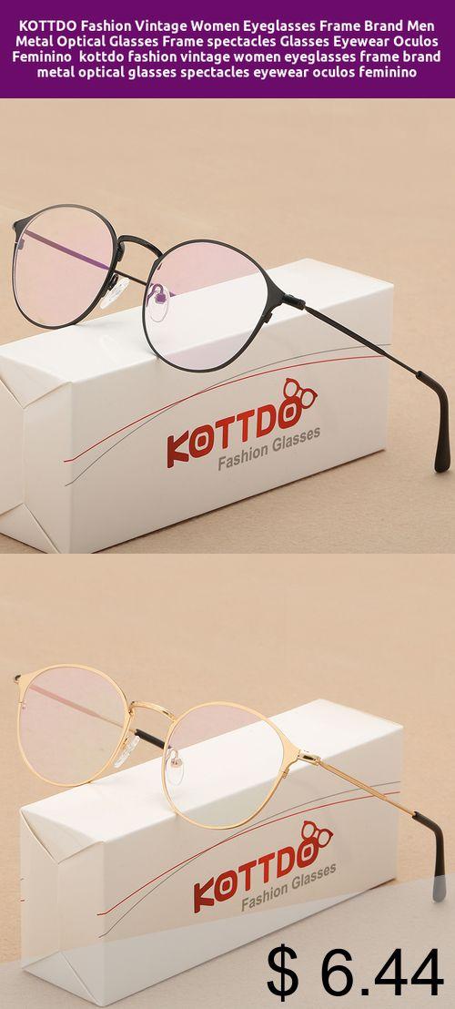 e65f083bb803  Only  6.44  KOTTDO Fashion Vintage Women Eyeglasses Frame Brand Men Metal  Optical Glasses Frame
