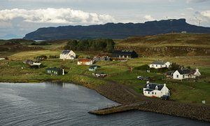 Port Mor on the Isle of Muck, where residents used Facebook to try to attract a…