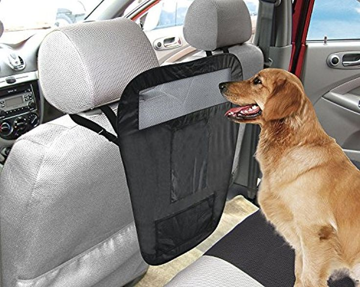"""""""Auto Pet Barrier With 3 Pockets/Organizer, Easy Install Car Pet Barrier, Travel Safety - Black Color By MareLight"""""""