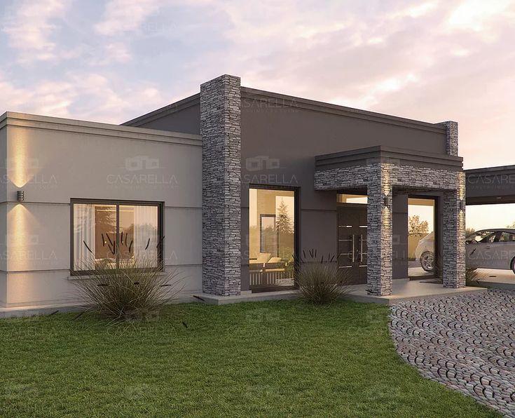 Las 25 mejores ideas sobre frentes de casas modernas en for Viviendas modernas de una planta