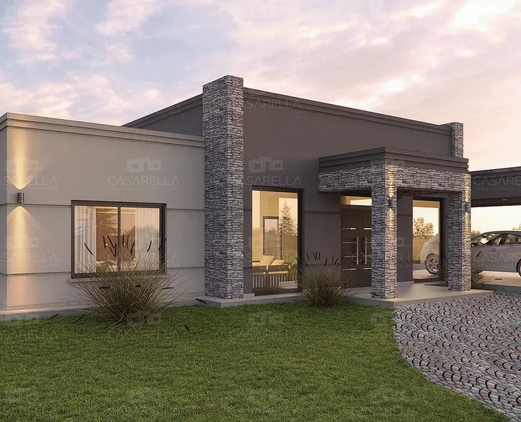 Las 25 mejores ideas sobre frentes de casas modernas en for Fachadas casas modernas de una planta