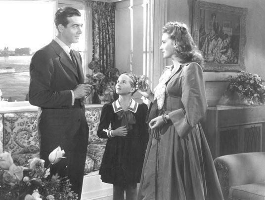 Maureen O'Hara, Connie Marshall, and John Payne in Sentimental Journey (1946)