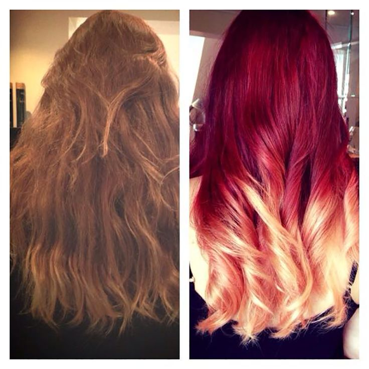 Ombre Hair Color Red To Blonde Google Search Beauty