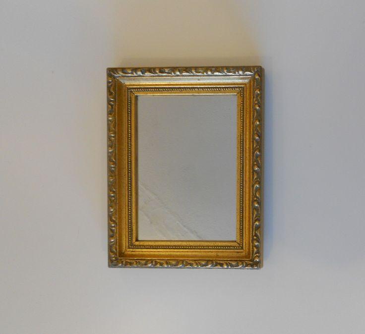 "8.75"" x 7"", Mirror, Gold Mirror, Narrow Mirror, Decorative Mirror, Wall Mirror, Gold Frame Mirror, Gold Leaf Frame, Gold Gilt Mirror by GoldLeafGirl on Etsy"