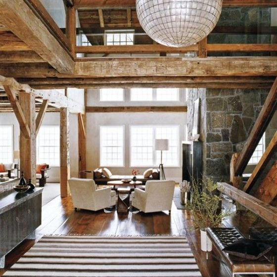 A mix of contemporary and rustic.