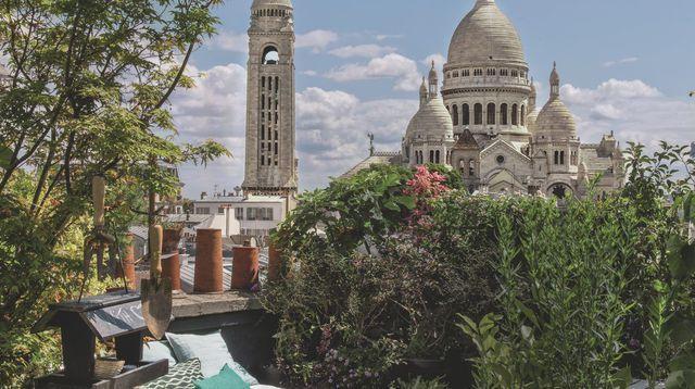 Un appart avec jardin sur les toits de Paris
