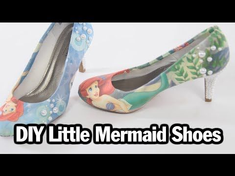 DIY Little Mermaid Shoes - ThreadBanger. Really tempted to use the same technique to make my shoes fit my art wedding theme