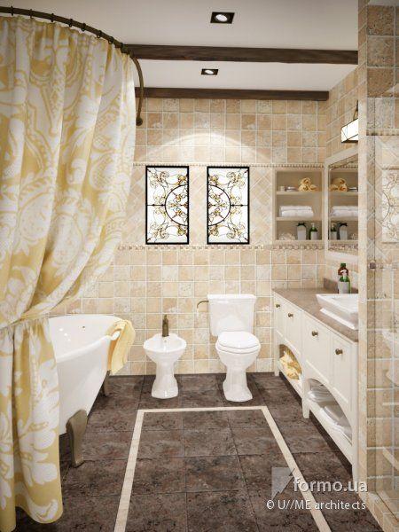 Безмятежность английского кантри, U//ME architects, Ванная/Санузел, Дизайн интерьеров Formo.ua