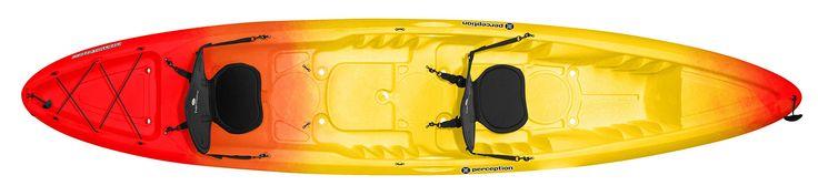 Perception Kayak Rambler Sunset Kayak, Red/Yellow, Size 13.5 T