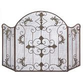 Found it at Wayfair - Embellished Wrought Iron Fireplace Screen