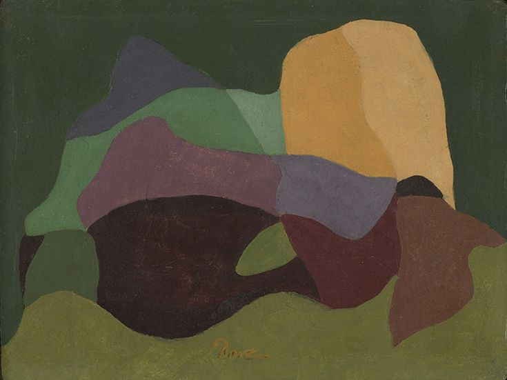 Arthur Dove  American, 1880-1946  Continuity, 1939 Tempera and encaustic on canvas 6 1/8 x 8 inches