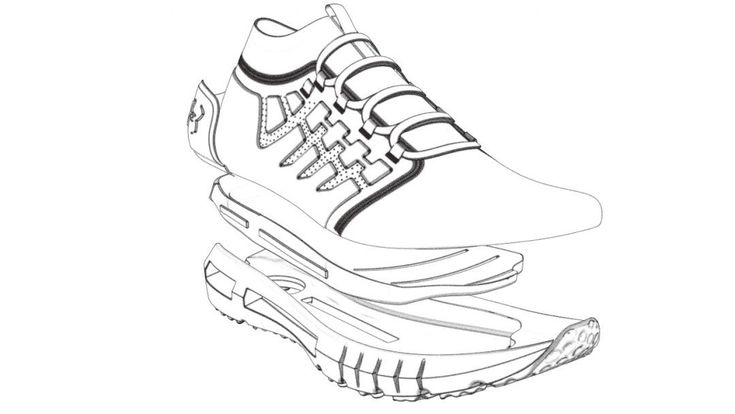 Coloring Pages Under Armour Shoes to Printable Coloring ...