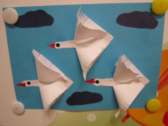 Мастер-класс - птицы летящие на юг