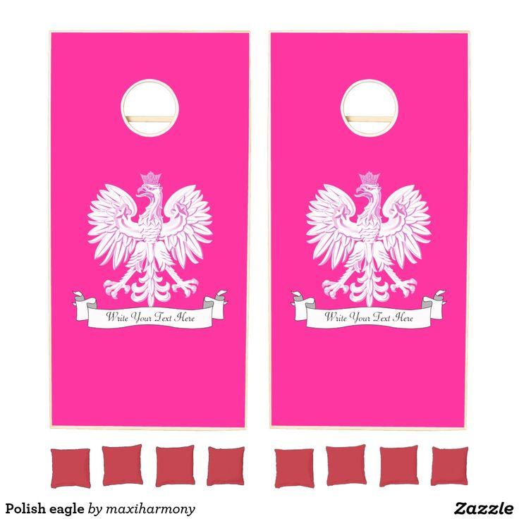 Polish eagle cornhole set