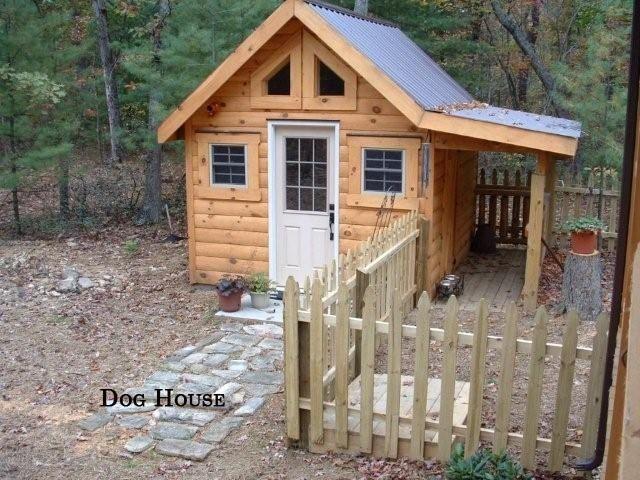 Cute Dog House With Side Yard Cool Dog House