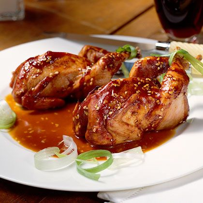 Quail gets a hearty dose of Asian-inspired flavor in this game recipe. Grilling the quail brings out the sweetness of the marinade,...