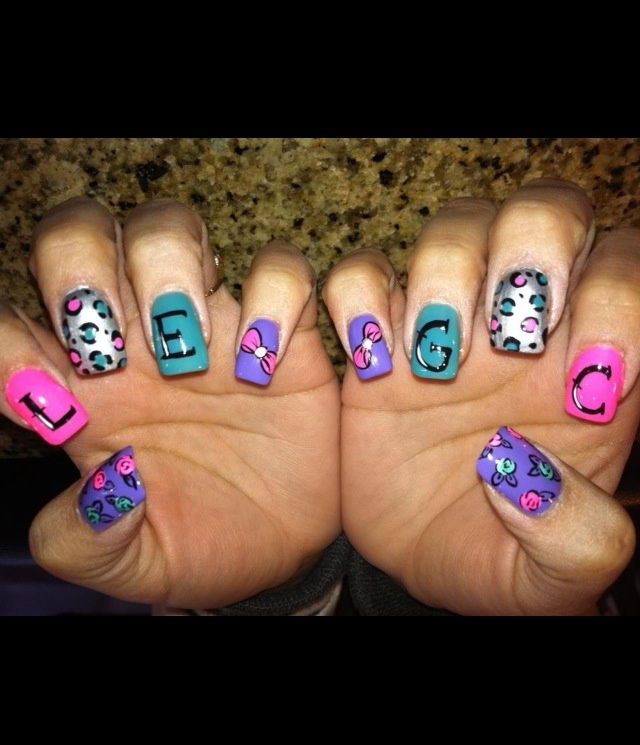 61 best nail art images on pinterest gorgeous nails hair and ive found a gem of a nail artist she used my initials prinsesfo Gallery