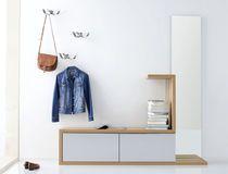 Mobile da ingresso moderno / da parete / in legno