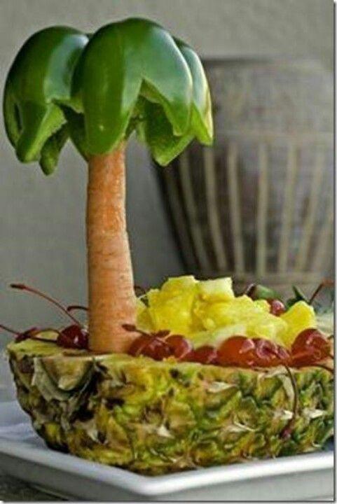 Cute fruit and veggie platter
