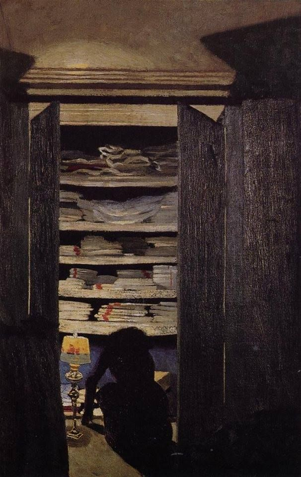 Félix Vallotton, Woman Searching through a Cupboard, ca. 1900-1901