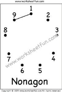 Dot to Dot – Nonagon Nonagon – Worksheet 1