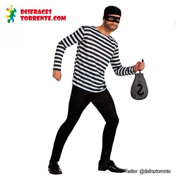 Disfraz de ladrón presidiario. ¿Te atreves con este disfraz de ladrón de bancos para los próximos Carnavales? Seguro que vas robando corazon...