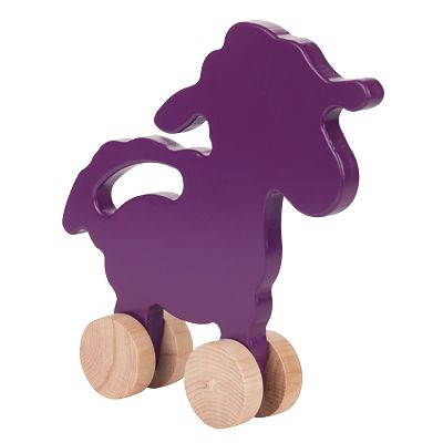 Adorable! Manny and Simon Wooden Lamb Push Toy