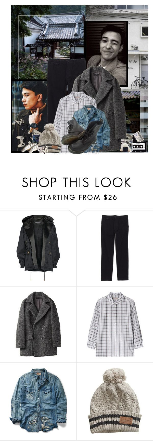 """Models: Sen Mitsuji"" by katieci ❤ liked on Polyvore featuring American Eagle Outfitters, Oris, Balmain, SEN, Banks, Margaret Howell, Transparente, Ralph Lauren, Billabong and DANNIJO"
