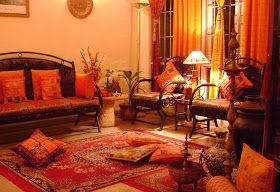 "Ethnic Indian Decor: Co-Blogger find of this Month ""Rainbow The colours of India """