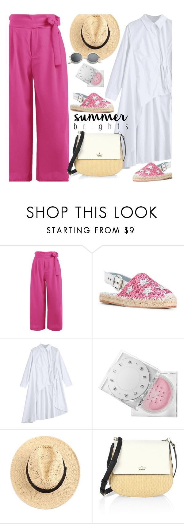 """Summer Brights"" by beebeely-look ❤ liked on Polyvore featuring Chiara Ferragni, Kate Spade, casual, summerstyle, espadrilles, zaful and summerdatenight"