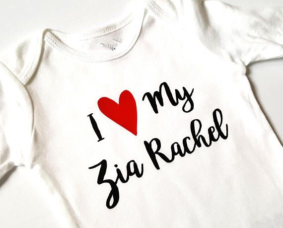 Check out this item in my Etsy shop https://www.etsy.com/ca/listing/566569041/i-love-my-zia-bodysuit-custom-name-baby