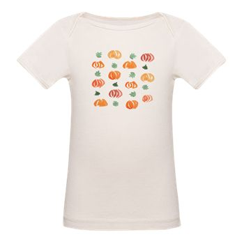 Tee With Pumpkins And Leaves