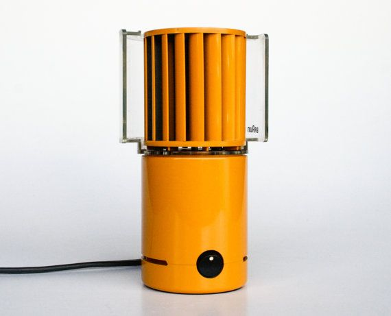 MOMA Electric Desk Fan / Table Fan Braun HL 70 in Orange, Germany / Retor 70's Vintage / MOMA Collection