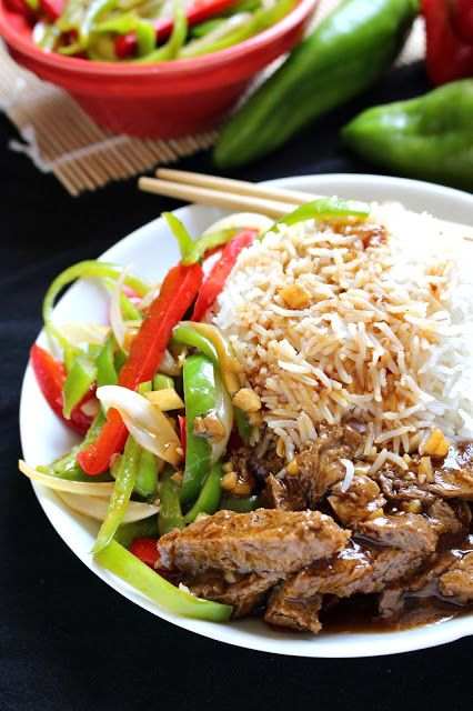"""Homemade Chinese food! This delicious """"peppersteak"""" uses seitan instead of beef."""