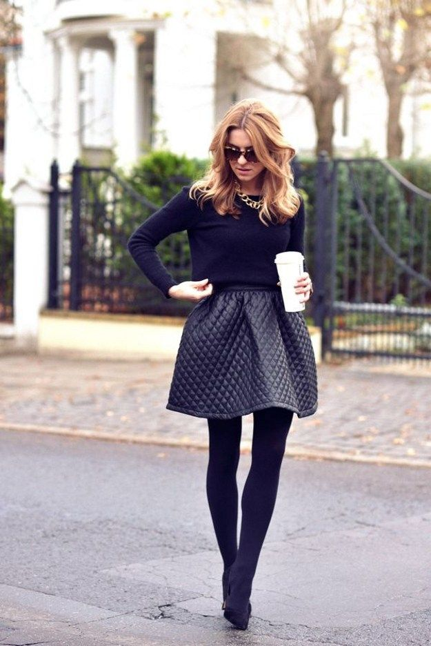 How to Wear Tights With Pretty Skirts, check it out at http://youresopretty.com/fall-fashion-tights