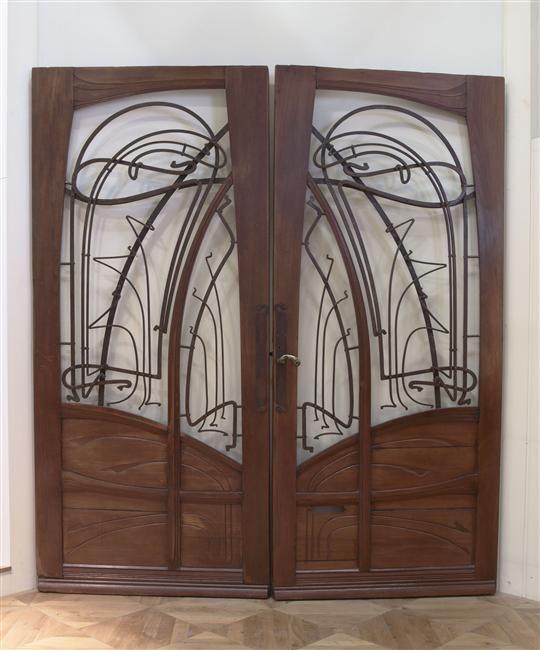 44 best hector guimard images on pinterest art deco art - Porte double vantaux ...