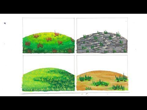 4 Cara Mewarnai Gradasi Tanah Youtube Warna Gambar Buku Mewarnai