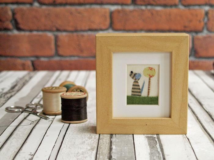 Kreatív ajándék, egyedi dekor: kézzel készített textilképek, képeslapok