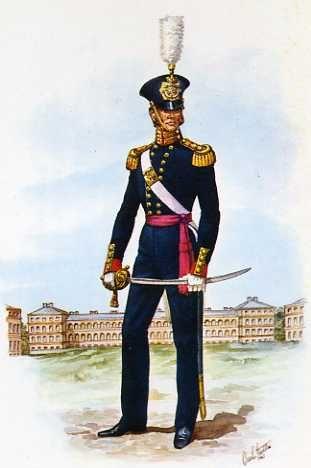 Officer Of The Royal Marine Artillery 1844