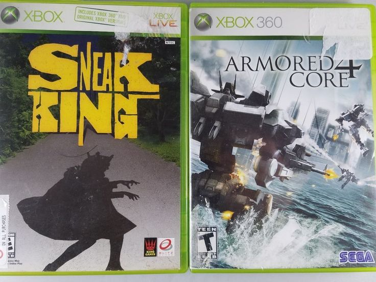 Lot of 2 XBox 360 Video Games ARMORED CORE 4 & SNEAK KING w/Case & Instruction #XBox360