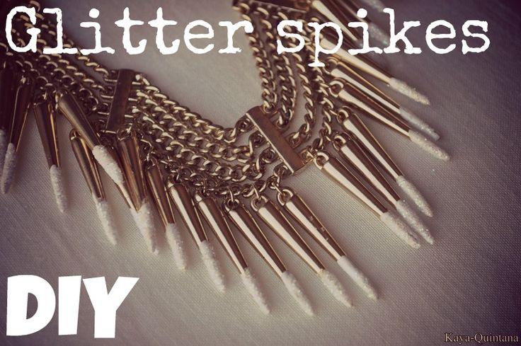 Fashion diy glitter spikes ketting