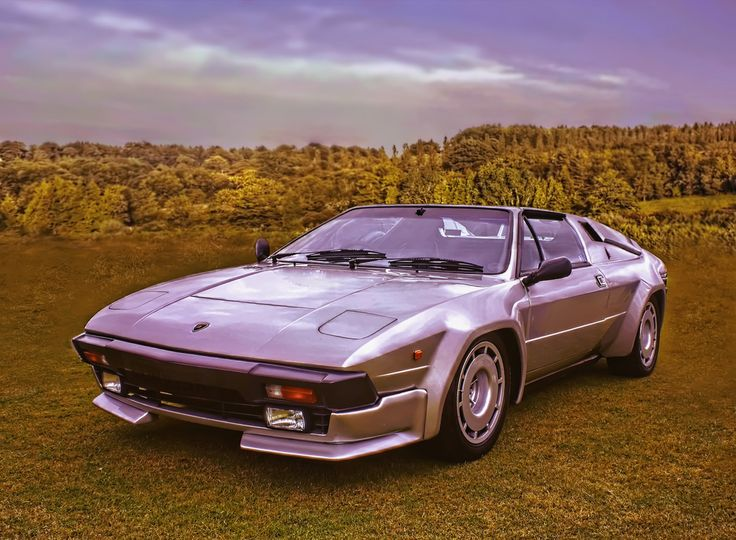 Lamborghini Jalpa - I remember a black one parked in the driveway for a bit. Funky but cool.