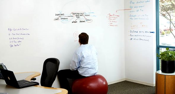 Study room home office but instead of writing on the for Remarkable dry erase paint