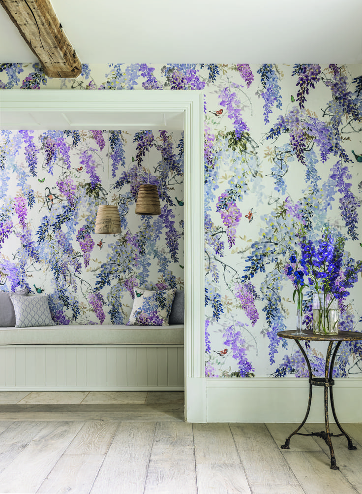 Wisteria Falls Wallpaper 154 Best Wall Coverings Images On Pinterest