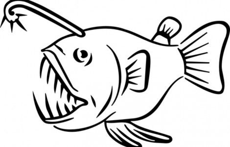 This is a graphic of Satisfactory Angler Fish Coloring Page