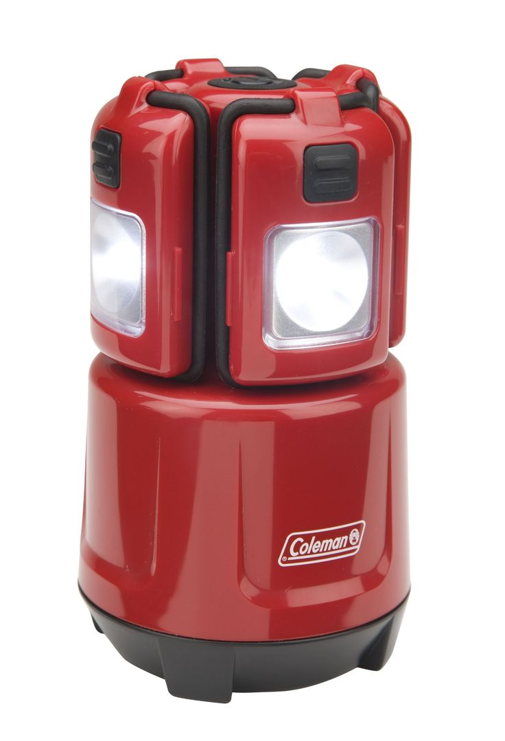 Coleman Micro Quad LED Mini Lantern. One lantern or four removable micro-lights. Versatile design to hang them, clip them and magnetically stick them. Great for camp, home and fun. Changeable color shields-orange, red, blue and green- help you keep an eye on several campers. Micro-lights powered by rechargeable coin-cell batteries, included. Lantern base powered by four AA-cell batteries, included. Lantern-77 lumens and up to 32 hours of runtime. Each detachable micro-light-16 lumens and…