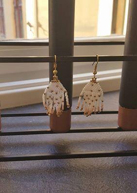Beaded earrings Handmade Jewelry By A